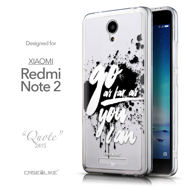Front & Side View - CASEiLIKE Xiaomi Redmi Note 2 back cover Quote 2415