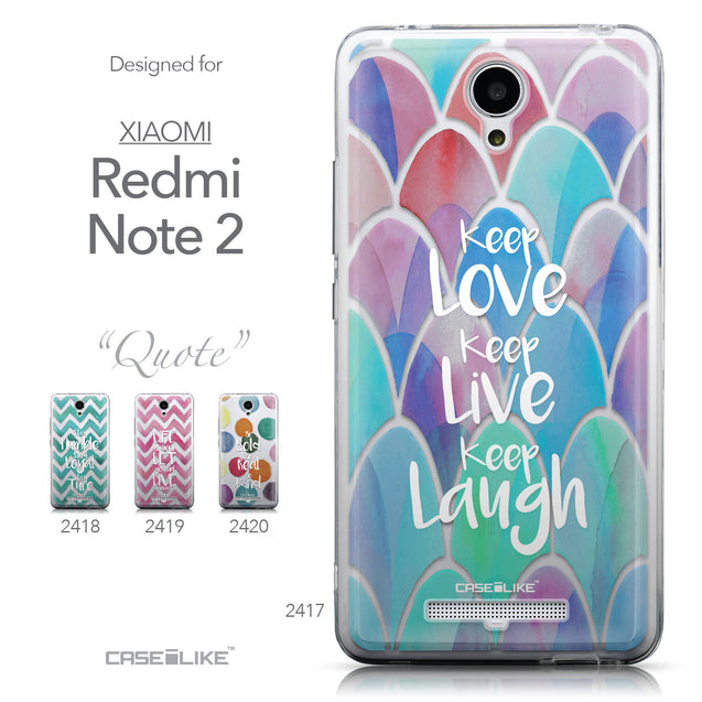 Collection - CASEiLIKE Xiaomi Redmi Note 2 back cover Quote 2417