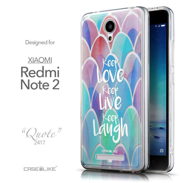 Front & Side View - CASEiLIKE Xiaomi Redmi Note 2 back cover Quote 2417
