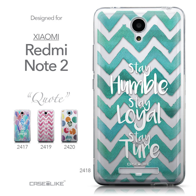 Collection - CASEiLIKE Xiaomi Redmi Note 2 back cover Quote 2418