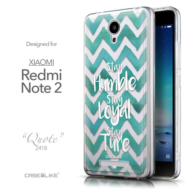 Front & Side View - CASEiLIKE Xiaomi Redmi Note 2 back cover Quote 2418