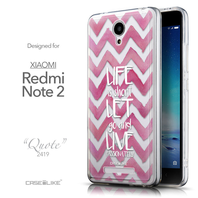 Front & Side View - CASEiLIKE Xiaomi Redmi Note 2 back cover Quote 2419