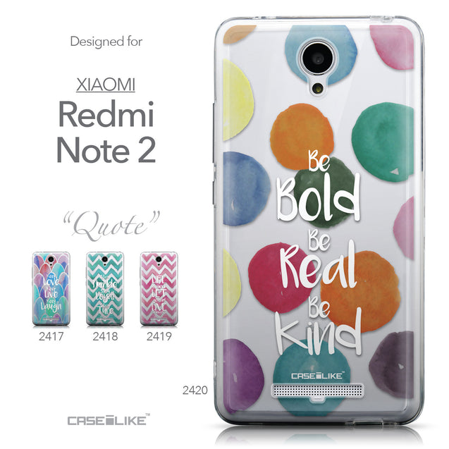 Collection - CASEiLIKE Xiaomi Redmi Note 2 back cover Quote 2420