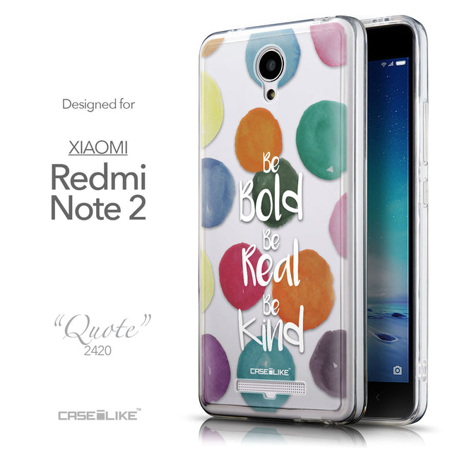 Front & Side View - CASEiLIKE Xiaomi Redmi Note 2 back cover Quote 2420