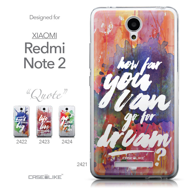 Collection - CASEiLIKE Xiaomi Redmi Note 2 back cover Quote 2421