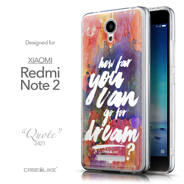 Front & Side View - CASEiLIKE Xiaomi Redmi Note 2 back cover Quote 2421