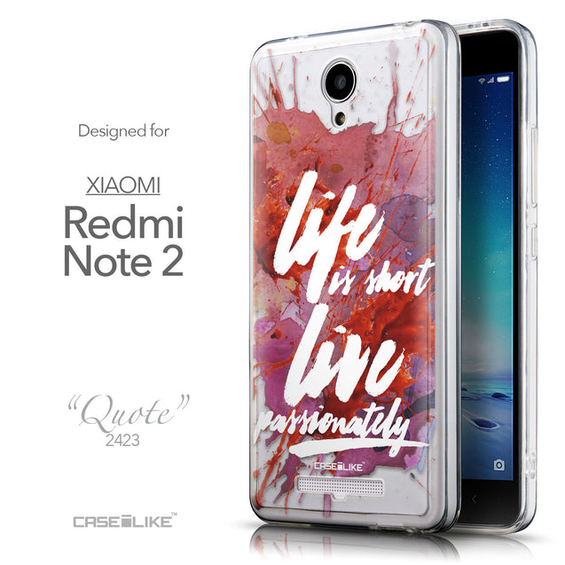Front & Side View - CASEiLIKE Xiaomi Redmi Note 2 back cover Quote 2423