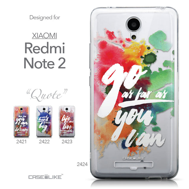 Collection - CASEiLIKE Xiaomi Redmi Note 2 back cover Quote 2424