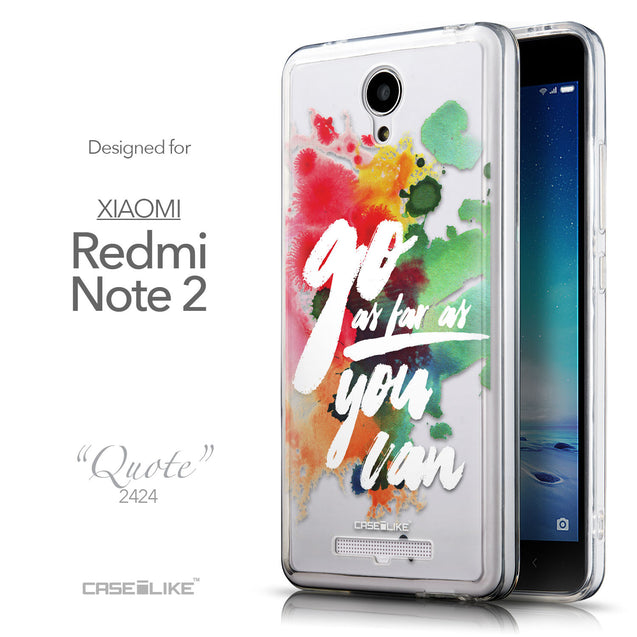 Front & Side View - CASEiLIKE Xiaomi Redmi Note 2 back cover Quote 2424