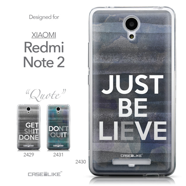 Collection - CASEiLIKE Xiaomi Redmi Note 2 back cover Quote 2430