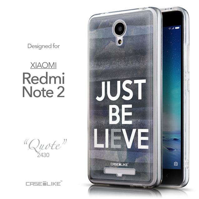 Front & Side View - CASEiLIKE Xiaomi Redmi Note 2 back cover Quote 2430