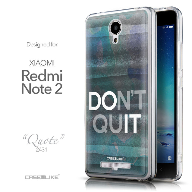 Front & Side View - CASEiLIKE Xiaomi Redmi Note 2 back cover Quote 2431