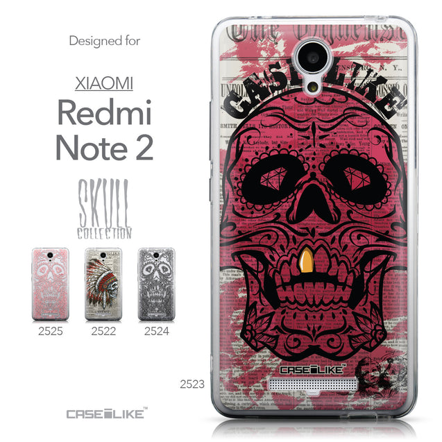 Collection - CASEiLIKE Xiaomi Redmi Note 2 back cover Art of Skull 2523