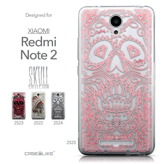 Collection - CASEiLIKE Xiaomi Redmi Note 2 back cover Art of Skull 2525