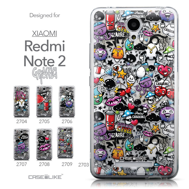 Collection - CASEiLIKE Xiaomi Redmi Note 2 back cover Graffiti 2703