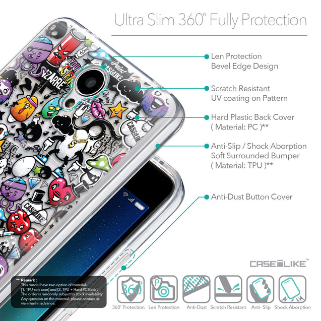 Details in English - CASEiLIKE Xiaomi Redmi Note 2 back cover Graffiti 2703