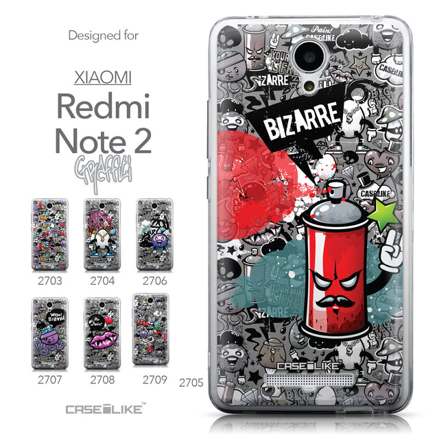 Collection - CASEiLIKE Xiaomi Redmi Note 2 back cover Graffiti 2705