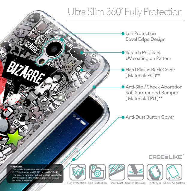 Details in English - CASEiLIKE Xiaomi Redmi Note 2 back cover Graffiti 2705