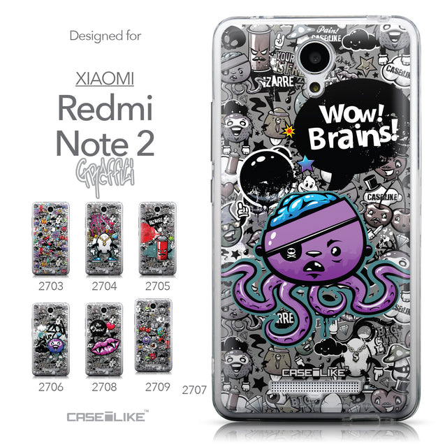 Collection - CASEiLIKE Xiaomi Redmi Note 2 back cover Graffiti 2707