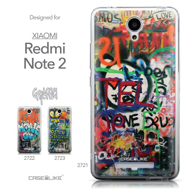 Collection - CASEiLIKE Xiaomi Redmi Note 2 back cover Graffiti 2721