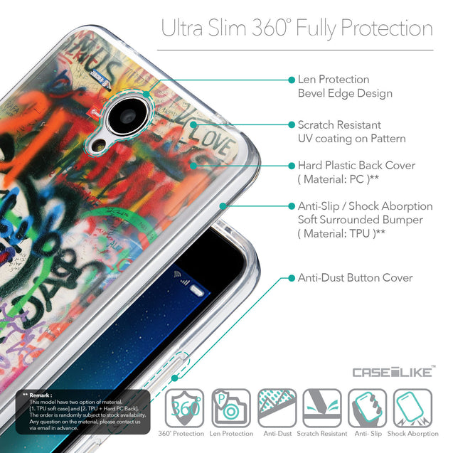 Details in English - CASEiLIKE Xiaomi Redmi Note 2 back cover Graffiti 2721