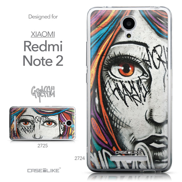 Collection - CASEiLIKE Xiaomi Redmi Note 2 back cover Graffiti Girl 2724