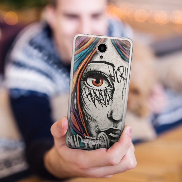 Share - CASEiLIKE Xiaomi Redmi Note 2 back cover Graffiti Girl 2724