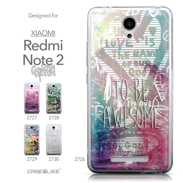 Collection - CASEiLIKE Xiaomi Redmi Note 2 back cover Graffiti 2726