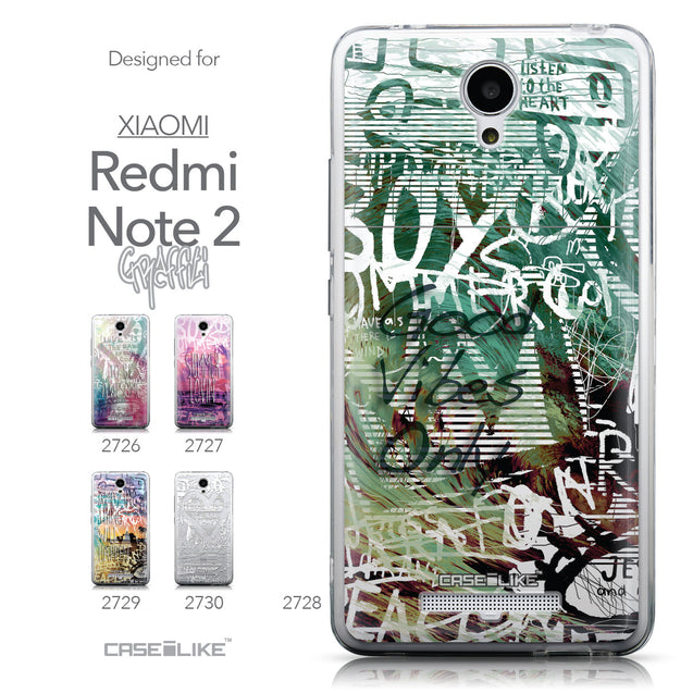 Collection - CASEiLIKE Xiaomi Redmi Note 2 back cover Graffiti 2728