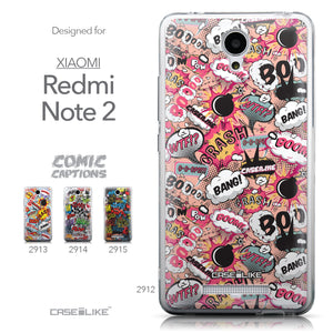 Collection - CASEiLIKE Xiaomi Redmi Note 2 back cover Comic Captions Pink 2912