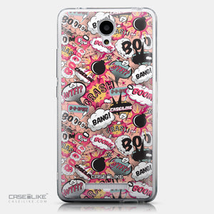 CASEiLIKE Xiaomi Redmi Note 2 back cover Comic Captions Pink 2912