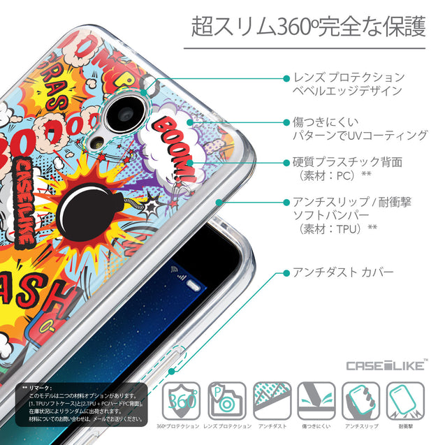 Details in Japanese - CASEiLIKE Xiaomi Redmi Note 2 back cover Comic Captions Blue 2913