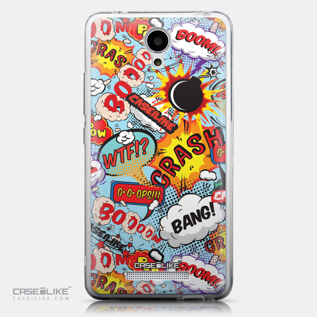 CASEiLIKE Xiaomi Redmi Note 2 back cover Comic Captions Blue 2913