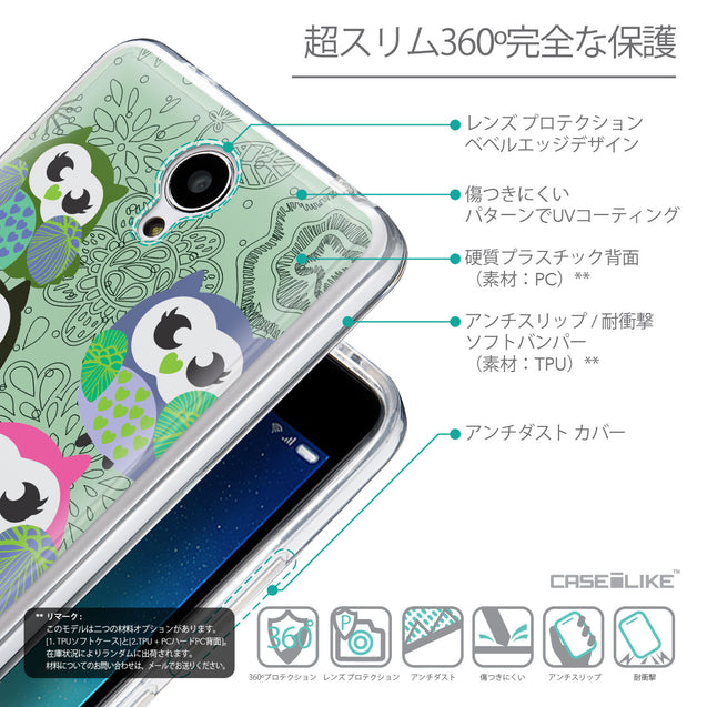 Details in Japanese - CASEiLIKE Xiaomi Redmi Note 2 back cover Owl Graphic Design 3313