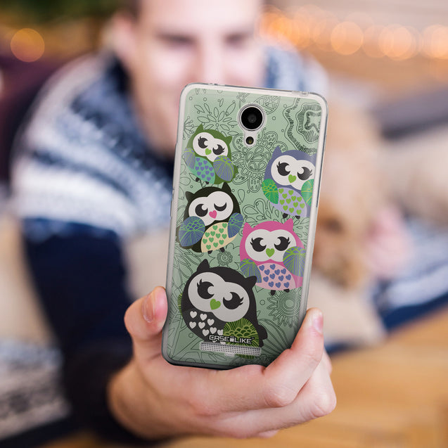 Share - CASEiLIKE Xiaomi Redmi Note 2 back cover Owl Graphic Design 3313