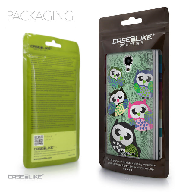 Packaging - CASEiLIKE Xiaomi Redmi Note 2 back cover Owl Graphic Design 3313