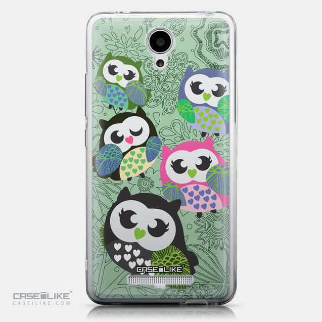 CASEiLIKE Xiaomi Redmi Note 2 back cover Owl Graphic Design 3313