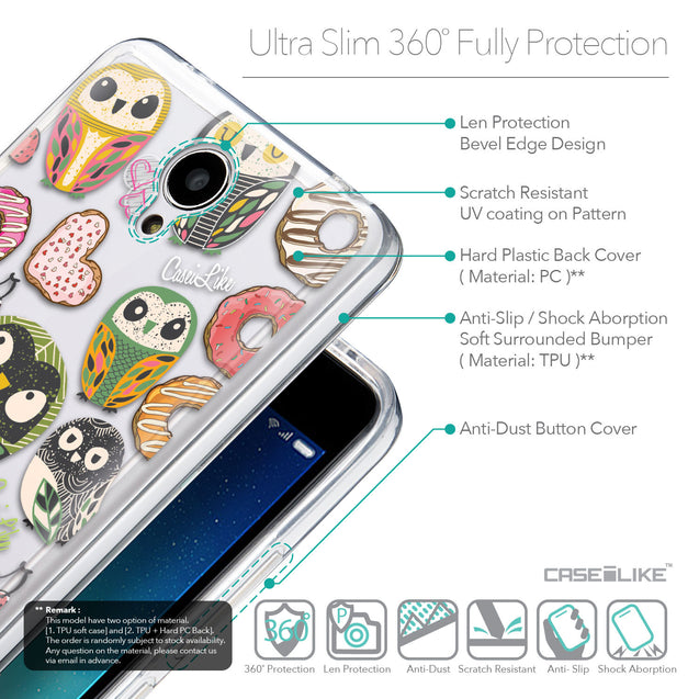 Details in English - CASEiLIKE Xiaomi Redmi Note 2 back cover Owl Graphic Design 3315