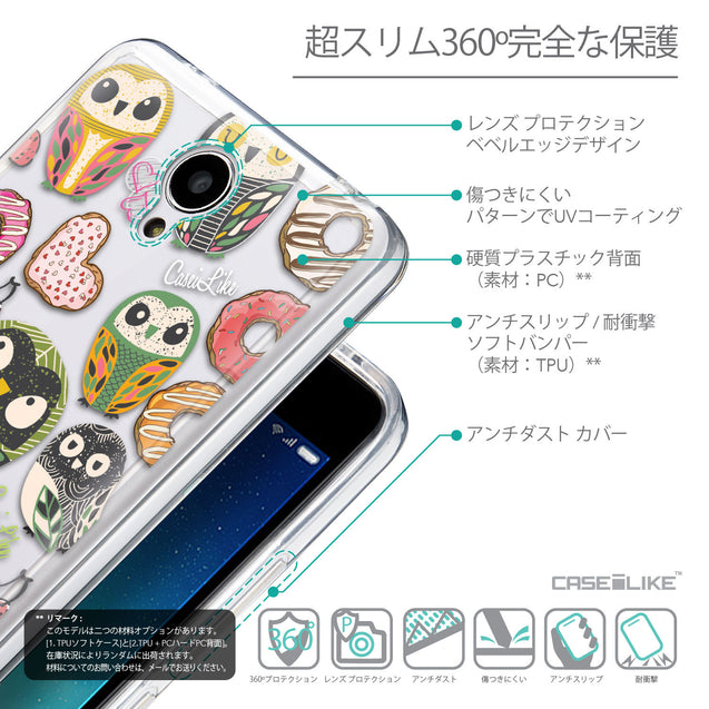 Details in Japanese - CASEiLIKE Xiaomi Redmi Note 2 back cover Owl Graphic Design 3315