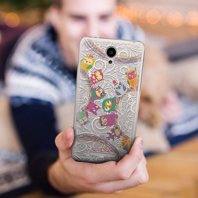 Share - CASEiLIKE Xiaomi Redmi Note 2 back cover Owl Graphic Design 3316