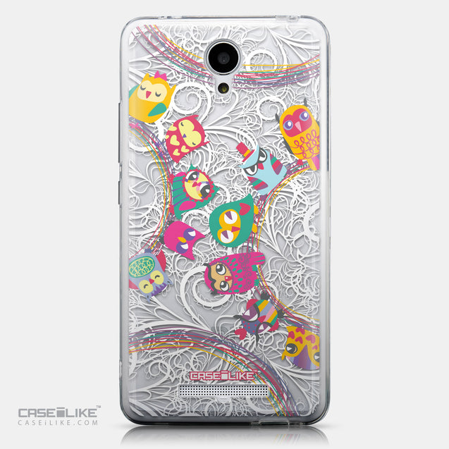 CASEiLIKE Xiaomi Redmi Note 2 back cover Owl Graphic Design 3316