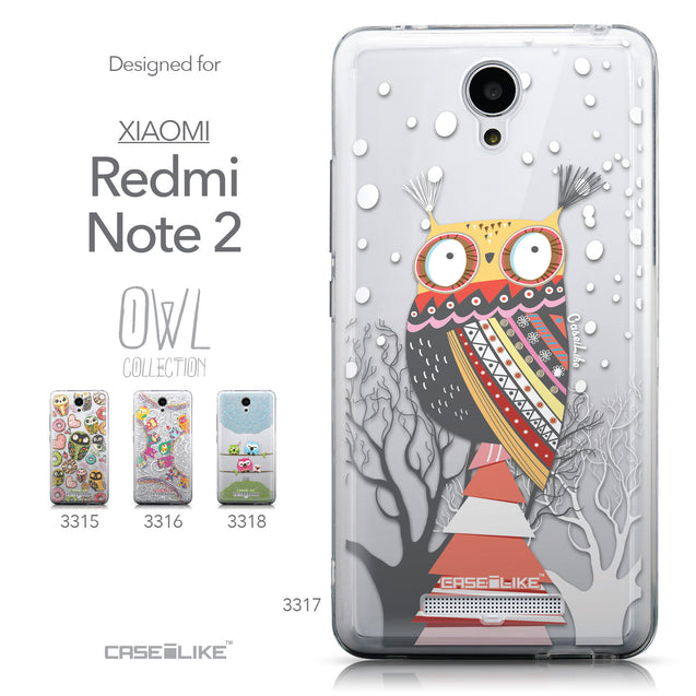 Collection - CASEiLIKE Xiaomi Redmi Note 2 back cover Owl Graphic Design 3317