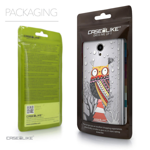 Packaging - CASEiLIKE Xiaomi Redmi Note 2 back cover Owl Graphic Design 3317