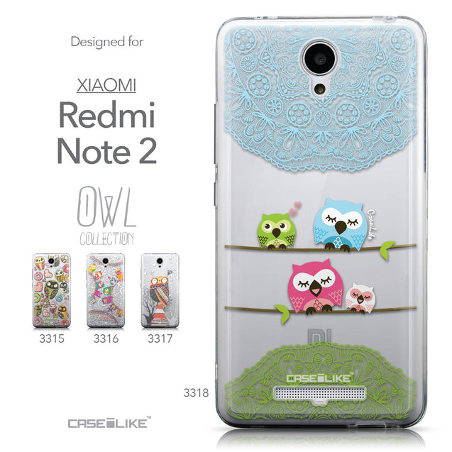 Collection - CASEiLIKE Xiaomi Redmi Note 2 back cover Owl Graphic Design 3318