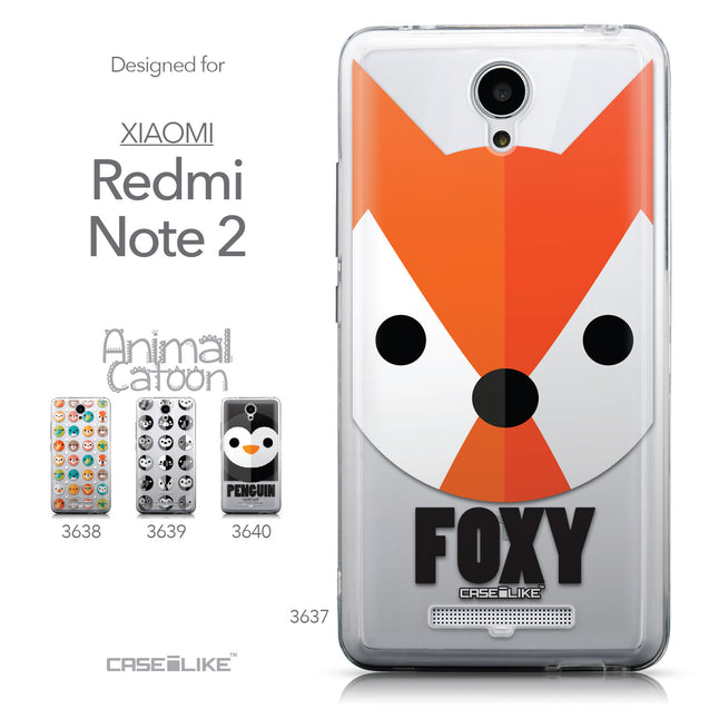 Collection - CASEiLIKE Xiaomi Redmi Note 2 back cover Animal Cartoon 3637