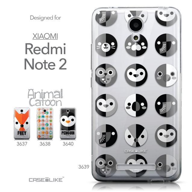 Collection - CASEiLIKE Xiaomi Redmi Note 2 back cover Animal Cartoon 3639