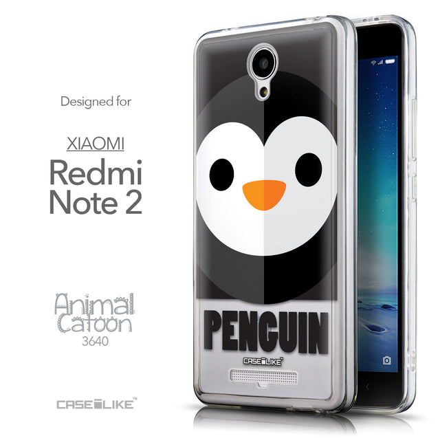 Front & Side View - CASEiLIKE Xiaomi Redmi Note 2 back cover Animal Cartoon 3640