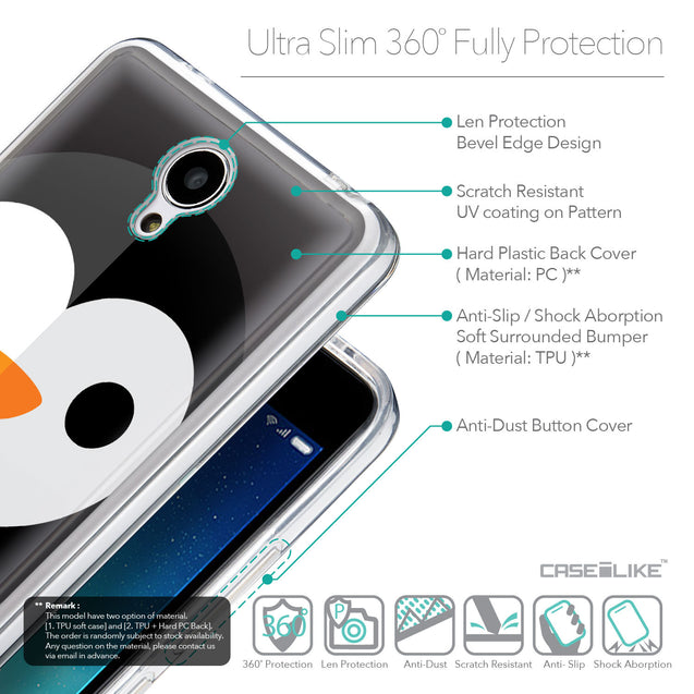 Details in English - CASEiLIKE Xiaomi Redmi Note 2 back cover Animal Cartoon 3640