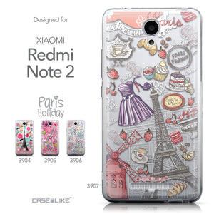 Collection - CASEiLIKE Xiaomi Redmi Note 2 back cover Paris Holiday 3907