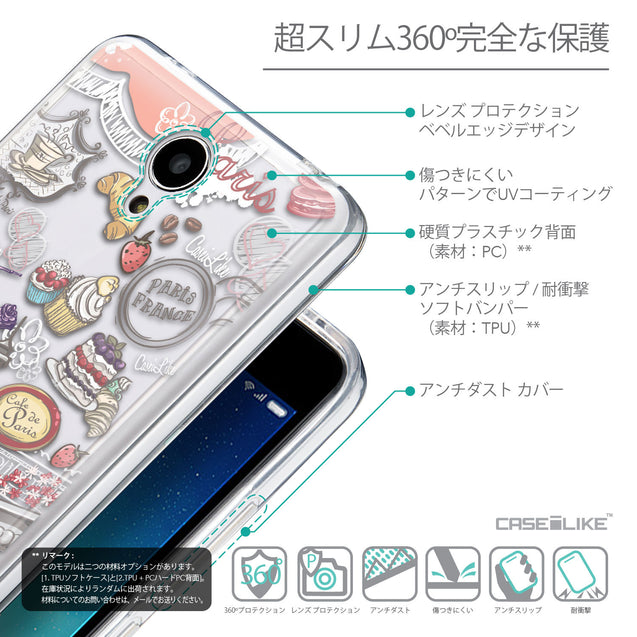 Details in Japanese - CASEiLIKE Xiaomi Redmi Note 2 back cover Paris Holiday 3907